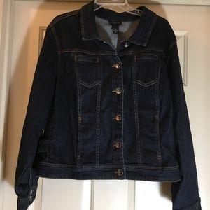 Lane Bryant Blue Jean Jacket.  Size 24 - EUC!
